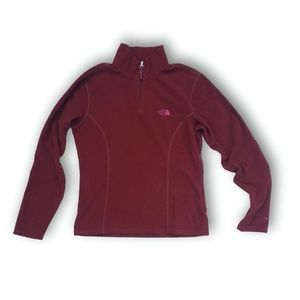The North Face S Rust Red Micro Fleece TKA100